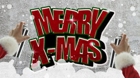 Merry Christmas graffiti Royalty Free Stock Images
