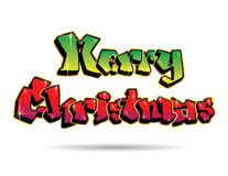 Merry Christmas Graffiti Stock Image