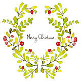 Merry Christmas. Grating card. Holiday post card template Royalty Free Stock Photography
