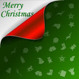 Merry Christmas green background Stock Photos