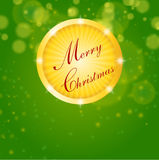 Merry christmas, green background Stock Images