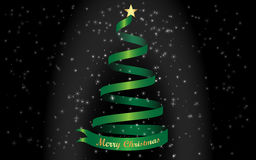 Merry Christmas and green Christmas tree Background Royalty Free Stock Photography