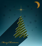 Merry Christmas green spruce Royalty Free Stock Photo