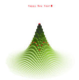 Merry Christmas green tree design Stock Images