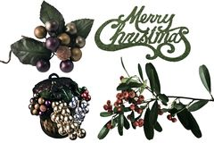 Merry Christmas Greenery Royalty Free Stock Photos