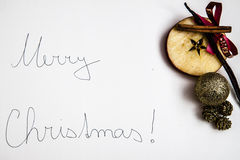 Merry Christmas greeting Royalty Free Stock Image