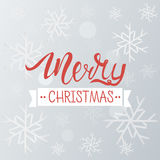 Merry Christmas greeting background. Holiday winter template with snowflakes and bokeh effect. Vector Illustration. Royalty Free Stock Image