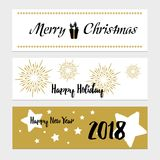 Merry Christmas greeting banner Stock Photo