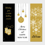 Merry Christmas greeting banner Royalty Free Stock Photography