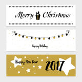 Merry Christmas greeting banner Stock Image
