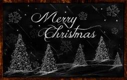 Merry Christmas Greeting Blackboard Royalty Free Stock Photography
