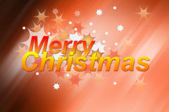Merry Christmas - Greeting card Stock Photos