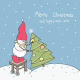 Merry christmas greeting card Royalty Free Stock Photography