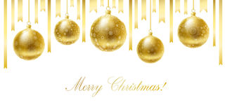 Merry Christmas greeting card. Stock Image