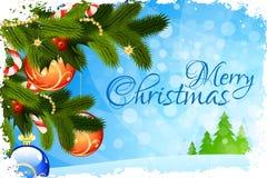 Merry Christmas Greeting Card vector illustration