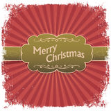 Merry Christmas greeting card. Royalty Free Stock Image