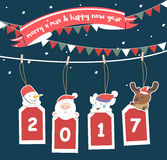 Merry Christmas greeting card 2017. Stock Images