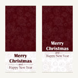 Merry Christmas greeting card. Abstract Happy New Year  background.  Hand drawn inscription. Vector illustration Stock Images