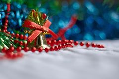 Holiday decorative background with decorative lights Stock Image