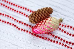 Holiday decorative background with decorative lights Royalty Free Stock Images