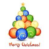 Merry Christmas Greeting Card Stock Image
