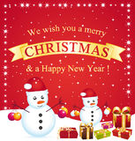 Merry Christmas greeting card. Stock Photography