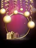Merry Christmas greeting card stock illustration