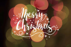Merry christmas greeting card bokeh light abstract Royalty Free Stock Image