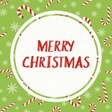 Merry Christmas greeting card. Candy cane pattern. Merry Christmas vector greeting card. Candy cane pattern Royalty Free Stock Photos