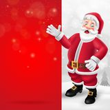 Merry Christmas greeting card with cartoon Santa Claus royalty free illustration