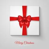 Merry Christmas Greeting Card with Christmas Gift Stock Photography