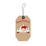 Merry Christmas Greeting Card with Christmas Santa Claus. Vector Stock Photo