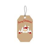 Merry Christmas Greeting Card with Christmas Santa Claus. Vector Royalty Free Stock Photos