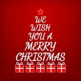 Merry Christmas Greeting card. Christmas tree concept. Stock Image