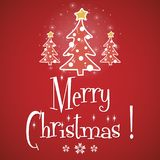 Merry Christmas red greeting card vector Stock Photos