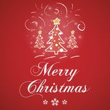 Merry Christmas red greeting card vector Royalty Free Stock Photo