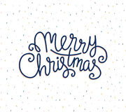 Merry Christmas greeting card on confetti background. Royalty Free Stock Images