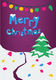 'Merry Christmas' greeting card. Stock Photos