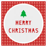 Merry Christmas greeting card7 Royalty Free Stock Photography