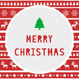 Merry Christmas greeting card8 Stock Photography