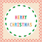 Merry Christmas greeting card45 Royalty Free Stock Photos