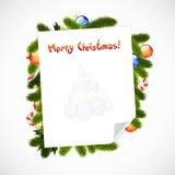 Merry Christmas Greeting Card Stock Photos