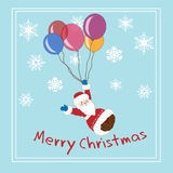 Merry Christmas greeting card. Decorative background with merry Merry Christmas vector illustration
