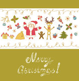 Merry Christmas Greeting Card. Stock Photos