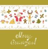 Merry Christmas Greeting Card. Stock Photos