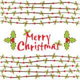Merry Christmas greeting card design Royalty Free Stock Image