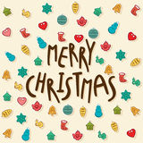 Merry christmas greeting card design Royalty Free Stock Images