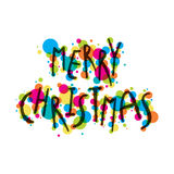 Merry christmas greeting card design Stock Photos