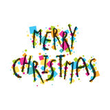 Merry christmas greeting card design Royalty Free Stock Photography