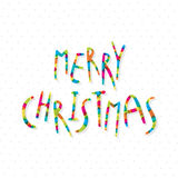 Merry christmas greeting card design Stock Photography